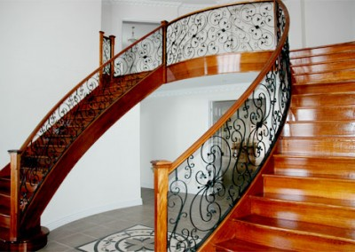 Curved Wrought Iron Balusters